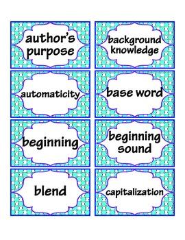 1st Grade Common Core ELA Word Wall