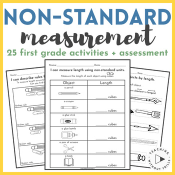 Non-Standard Measurement Packet: Measuring Length {1st Gra