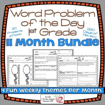 Word Problems 1st Grade Bundle