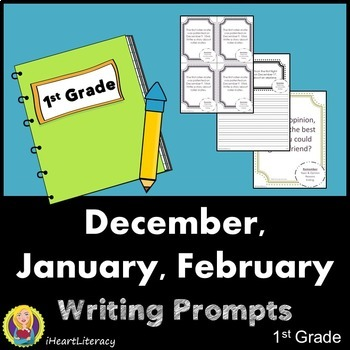 Writing Prompts 1st Grade Common Core Bundle – December, J