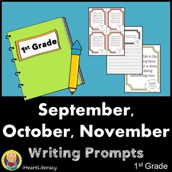 Writing Prompts 1st Grade Common Core Bundle - September,