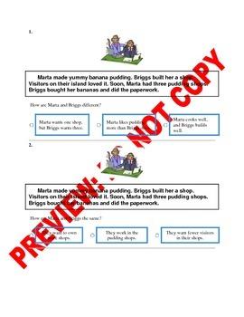 1st Grade Compare & Contrast Assessment/Activity