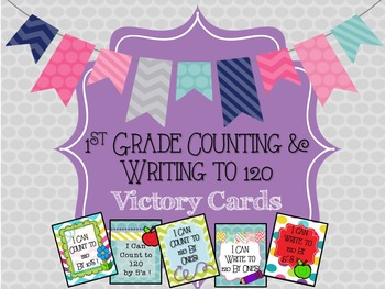 1st Grade Counting & Writing to 120 Victory Cards (Brag Ta