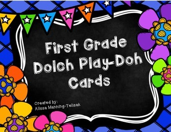 1st Grade Dolch Play-Doh Cards