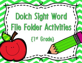1st Grade Dolch Sight Word Write and Wipe File Folder Activities
