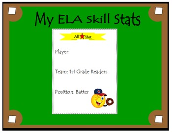 1st Grade ELA Common Core: Student Data Tracking Binder (A