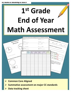 1st G End of Year Math Assessment