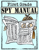 End of the Year Memory Book: 1st Grade Spy Manual Theme