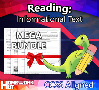 1st Grade English Reading: Informational Text ( CCSS Align