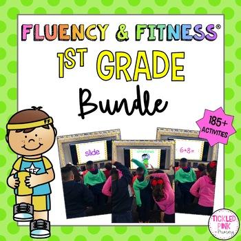 1st Grade Fluency & Fitness Brain Breaks Bundle