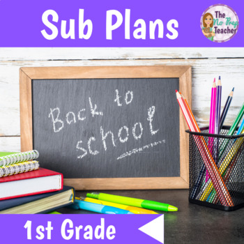 1st Grade Full Day Sub Plans Back to School