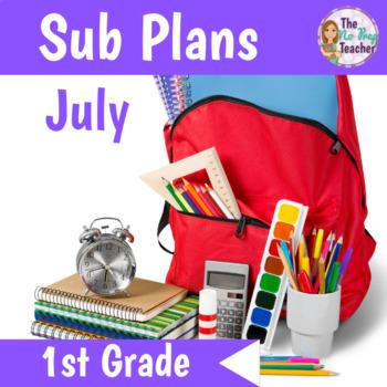 1st Grade Full Day Sub Plans July