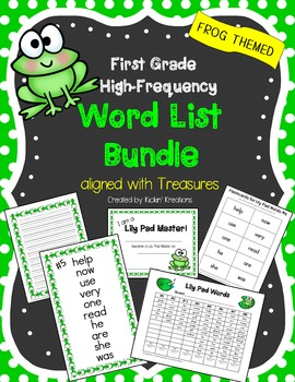 1st Grade High Frequency Word List BUNDLE (aligned with TR