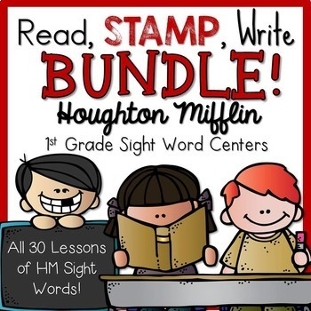 1st Grade Houghton Mifflin Read Stamp Write Sight Words Le