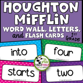 1st Grade Houghton Mifflin Journeys Sight Words for Word W