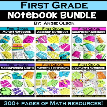 1st Grade Math- Interactive Math Notebook Bundle