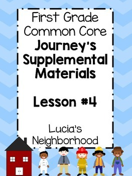 1st Grade Journey's Lesson 4 Common Core, Graphic Organize