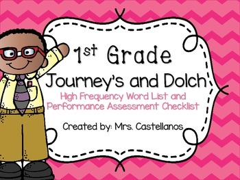1st Grade Journey's and Dolch High Frequency Work List and
