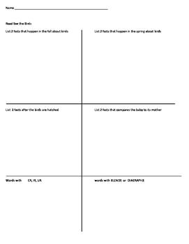 1st Grade Journeys Unit 5 Decodable Reader Comprehension R