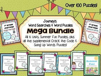 1st Grade Journeys Word Searches & Puzzles – MEGA BUNDLE