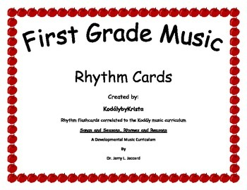 1st Grade Kodaly Music Rhythm Flashcards
