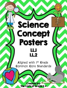 1st Grade Life Science Posters Living Thing Environment Pl