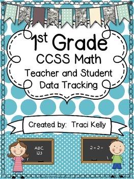 1st Grade Math Common Core Teacher and Student Data Tracki