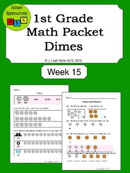 Dimes Math Packet - Week 15 - Christmas Theme