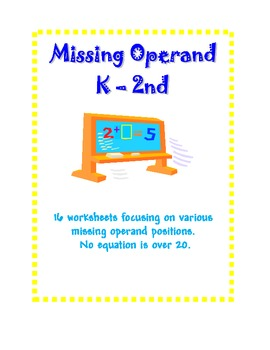 Addition Equations with Missing Operands