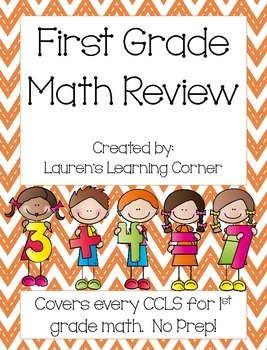 1st Grade Math Review - Common Core Aligned
