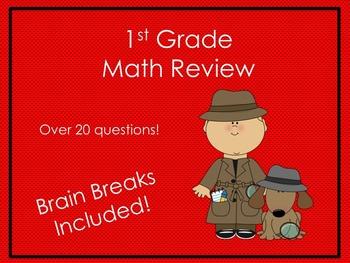 1st Grade Math Review: Detective Theme