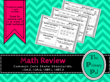 1st Grade Common Core Math Review: Set 2