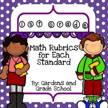 1st Grade - Math Standards with Rubrics
