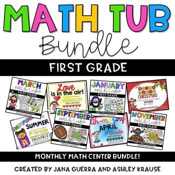 1st Grade Math Tub YEARLY BUNDLE