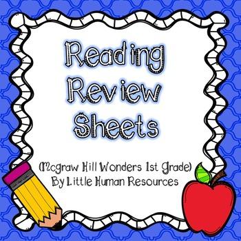 1st Grade McGraw Hill Homework Sheets Unit 1- Unit 6