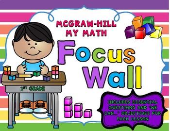 1st Grade McGraw-Hill My Math Focus Wall