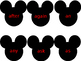 1st Grade Mickey Mouse Dolch Words Flip Ring/Flashcards
