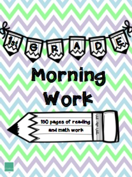 1st Grade Morning Work