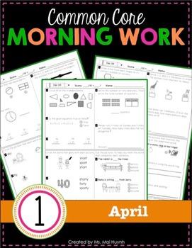 1st Grade Morning Work: April