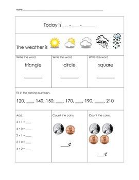 1st Grade Morning Work Packet Part 3