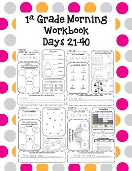 1st Grade Morning Workbook  21-40