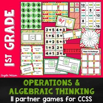 1st Grade Operations & Algebraic Thinking: 11 Math Partner