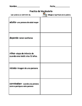 1st Grade Pearson Vocabulary Spanish