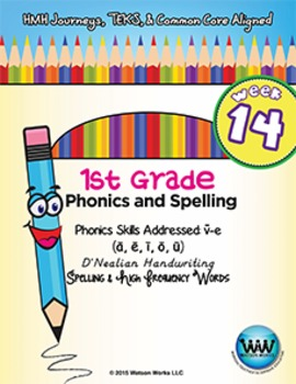 1st Grade Phonics and Spelling D'Nealian Week 14 (long vow