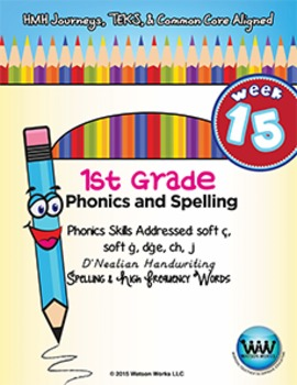 1st Grade Phonics and Spelling D'Nealian Week 15 (soft c,