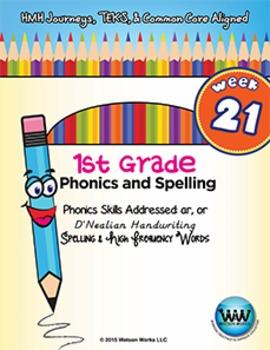 1st Grade Phonics and Spelling D'Nealian Week 21 (ar, or)