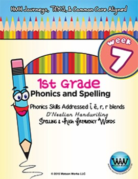 1st Grade Phonics and Spelling D'Nealian Week 7 (short e,