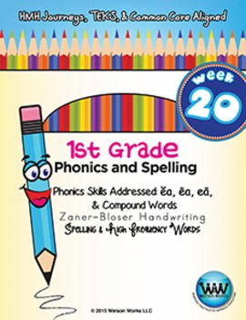 1st Grade Phonics and Spelling Zaner-Bloser Week 20 (ea, C