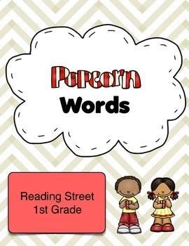 1st Grade Reading Street Popcorn Sight Words