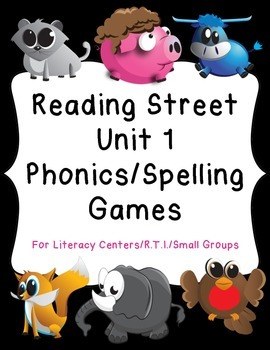 1st Grade Reading Street Unit 1 Phonics/Spelling Game Cent